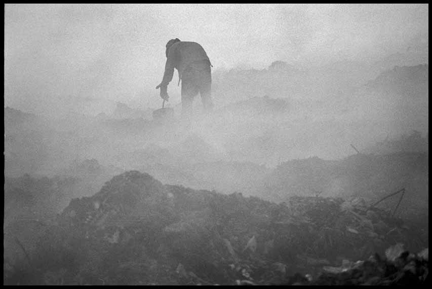 35. Man in burning waste