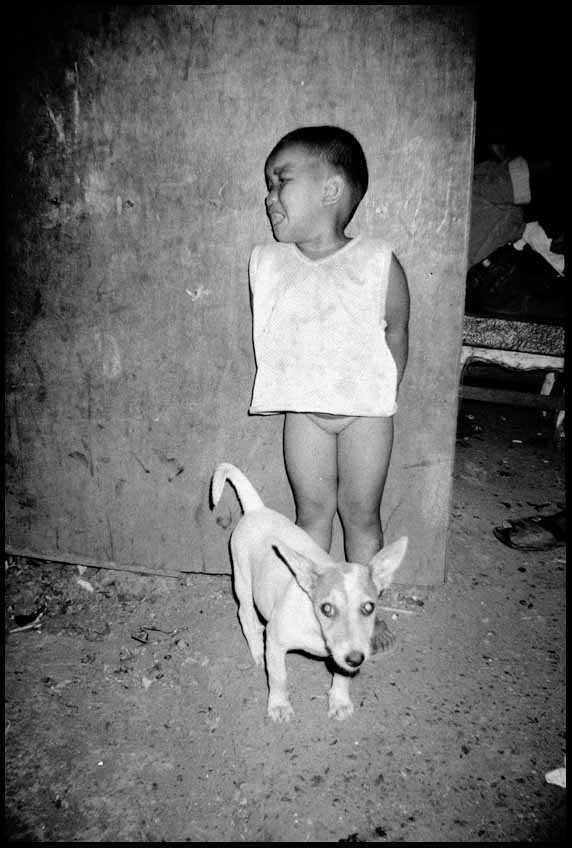 56. Child with Dog in the Night