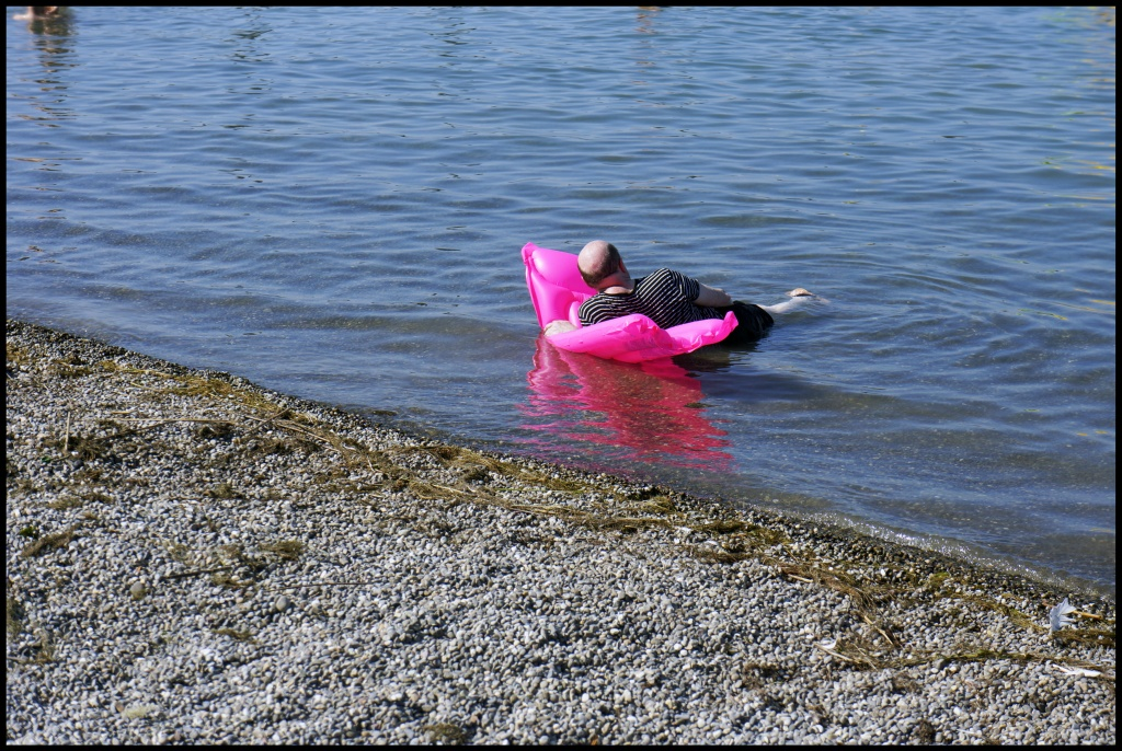100.Pink inflatable mattress on the Lake Constance661